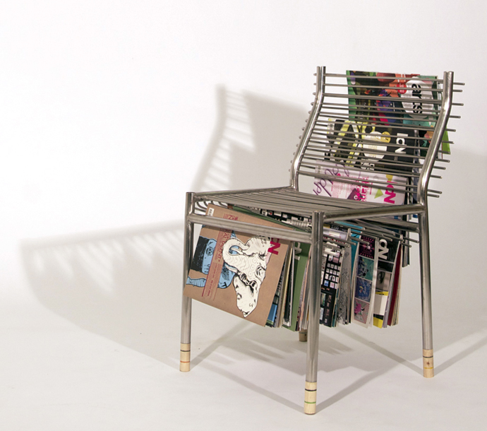 Magazine Rack Chair 1 Silla revistero