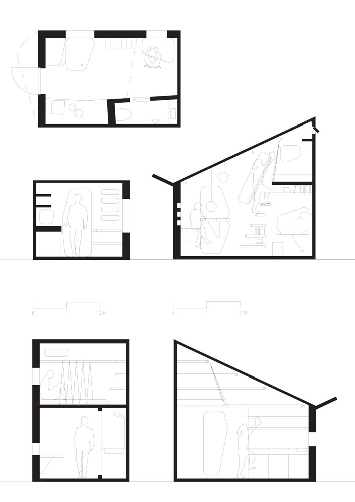 Tengbom Architects Student flat 7 plan section La casa ideal para un estudiante