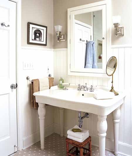 Baño Romantico Ideas:Vintage Style Bathroom Sink