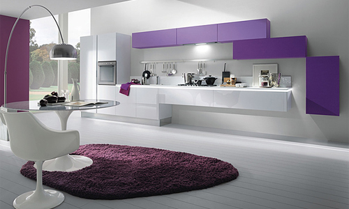 Interiores de color violeta decoracion de decoracion - Cenefas cocinas modernas ...