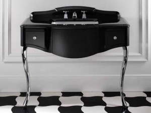 devon black lacquered console table 5 300x225 Un lavabo o un tocador?