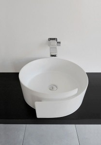 fashionable bathroom sink flaminia roll 1 208x300 Lavabo enrollado