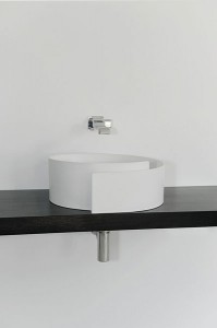 fashionable bathroom sink flaminia roll 3 199x300 Lavabo enrollado