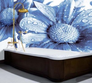 glass mosaic tiles with cool images for bathroom by glassdecor 5 pzdus 1822 300x272 Mosaicos de vidrio de gran formato