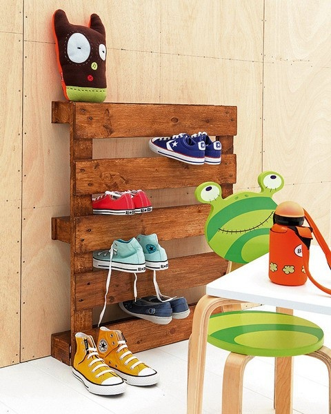 pallet shoe Zapatero hecho con palets