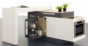 small type kitchen cif99 24431 300x156 Cocina para mini apartamentos