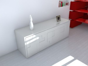 tetris inspired sideboard furniture 300x225 Mueble inspirado en el Tetris